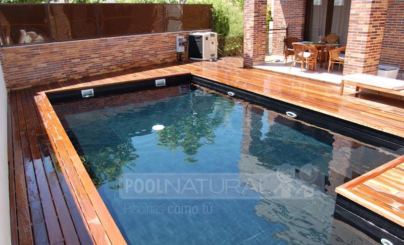 La madera como acabado para una piscina sostenible y for Madera para piscinas